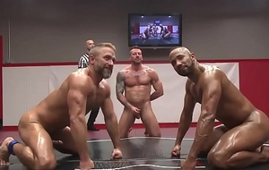 Naked dongs wrestling increased by masturbating