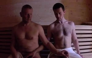 Sauna Fuck - Elder statesman Younger Without a condom Fuck