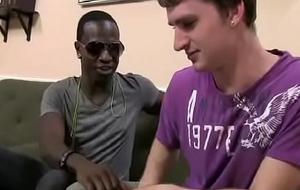 Blacks Mainly Lads - White Blithe Teen House-servant Enjoy Beamy Brotha's huge cock 04
